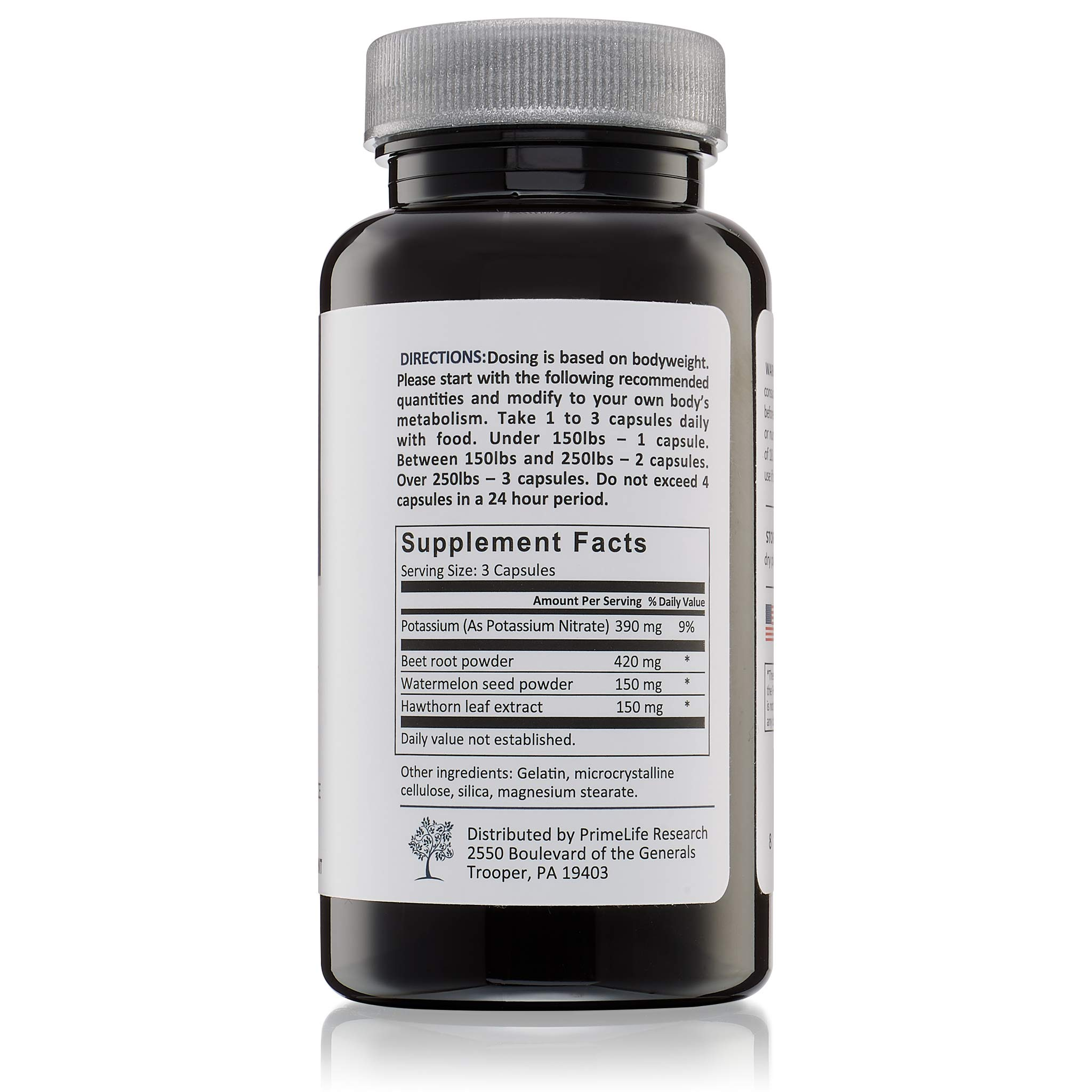Beet Root Nitric Oxide Supplement - Prime Flow | Daily Dietary Nitrate Supplement | Lower Blood Pressure Naturally | Improve Heart Health | Increase Blood Flow and Circulation by PrimeLife Research (Image #4)