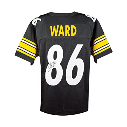 b7821e5be Hines Ward Autographed Pittsburgh Steelers Custom Black Football Jersey -  JSA COA