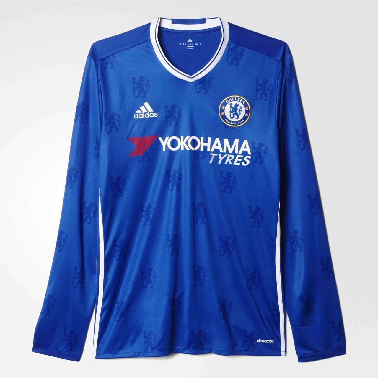 9fdc1a0a0af Amazon.com   adidas Men s Chelsea Long Sleeve Home Soccer Jersey 2016 17  (Blue)   Sports   Outdoors