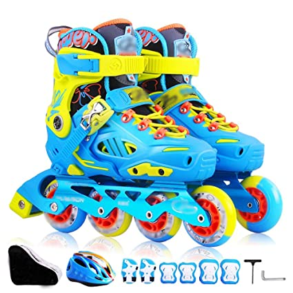 ZCRFY Patines Profesionales Zapatos De Lujo Patines Patines para Niños para Niños Y Niñas Ajustables En