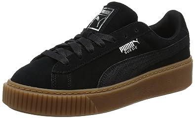 puma scarpe da ginnastica scamosciate nere con plateau