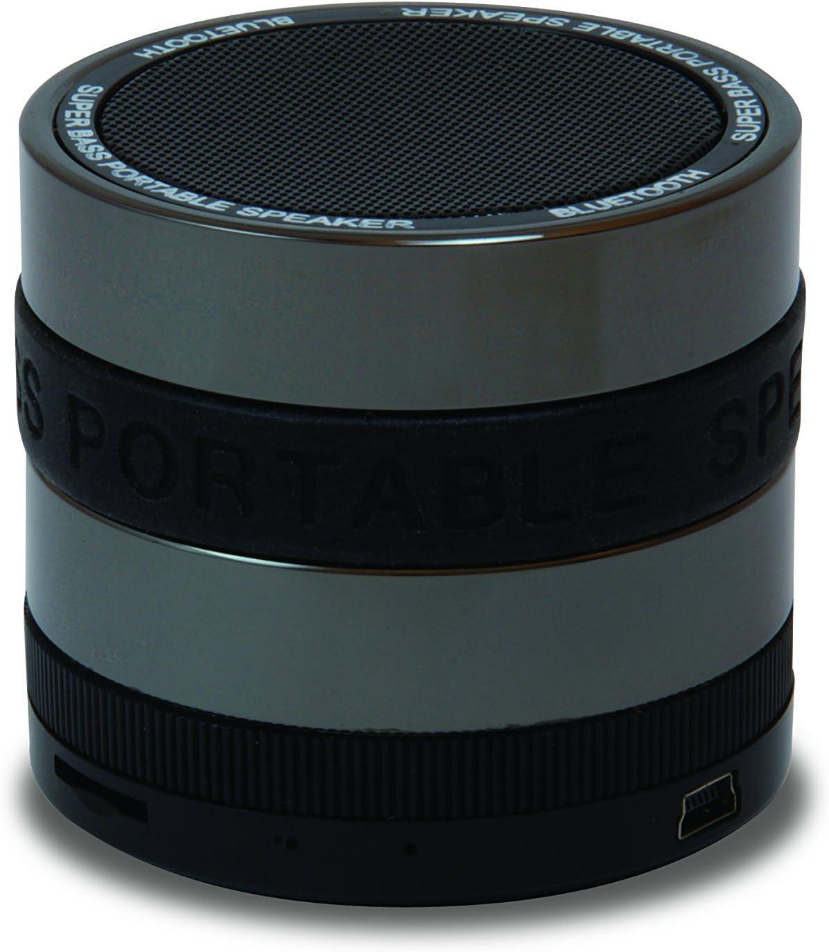 Conceptronic CSPKBTSBB 3 W Negro, Gris - Altavoces portátiles (3 W, 85 dB, 0,5%, Inalámbrico y alámbrico, 10 m, Mini-USB)