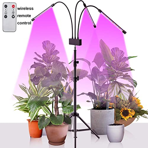 Moutik Grow Light Flower LED 10 Dimmable Levels 60 LED 3 9 12H Timer 3 Switch Modes with Red Blue Spectrum Garden Plant Lighting Floor Stand Growing Light Adjustable Gooseneck for Indoor 17-63In