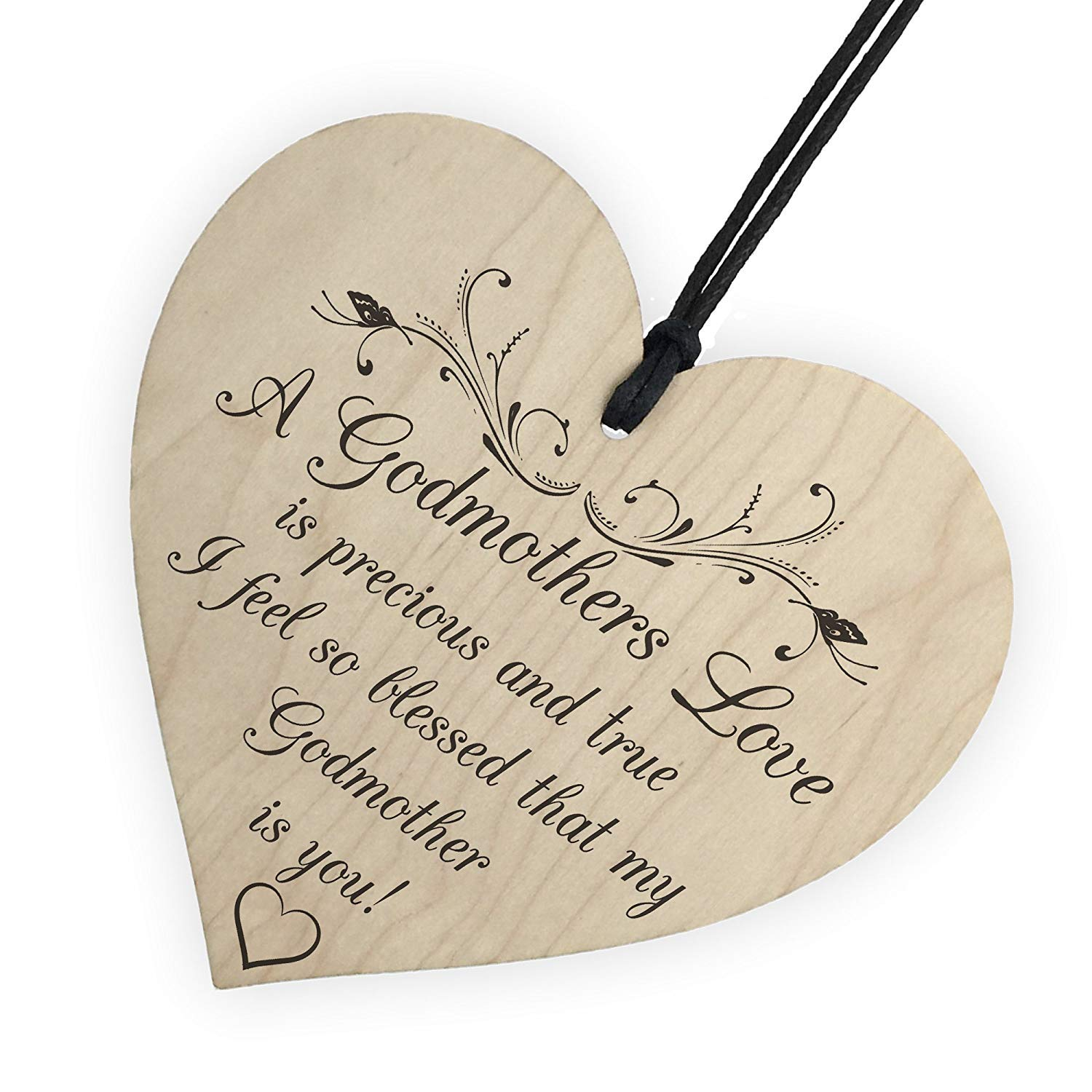 Red Ocean Wooden Heart with Script 'Good Morning Gorgeous', for Hanging, Wall Sign, Love RO-2503