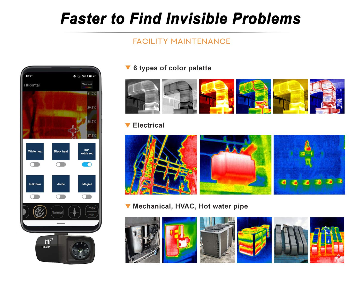 USB Type-C Black /… Hti-Xintai High Resolution Thermal Imaging Camera for Android Smartphones