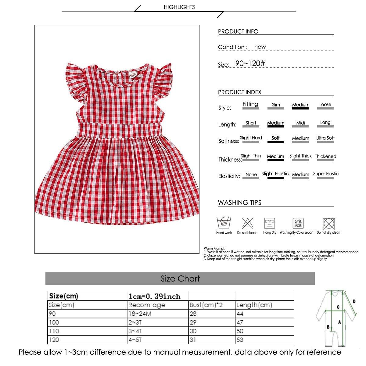 Haokaini Mameluco del Vestido de la Colmena de la Tela Escocesa a Juego de la Familia de los Gemelos Falda roja de Las Hermanas Onesie para el Infante
