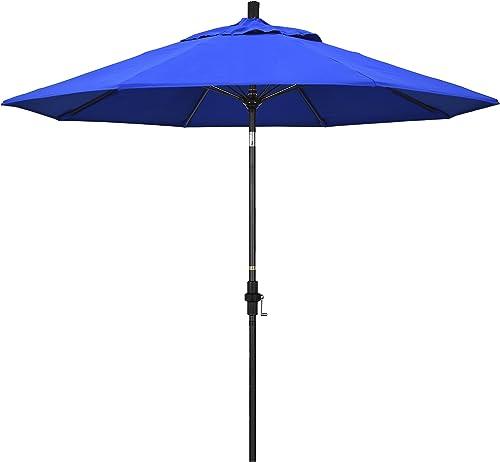 California Umbrella GSCUF908705-5401 9' Round Aluminum Pole Fiberglass Rib Market Patio Umbrella