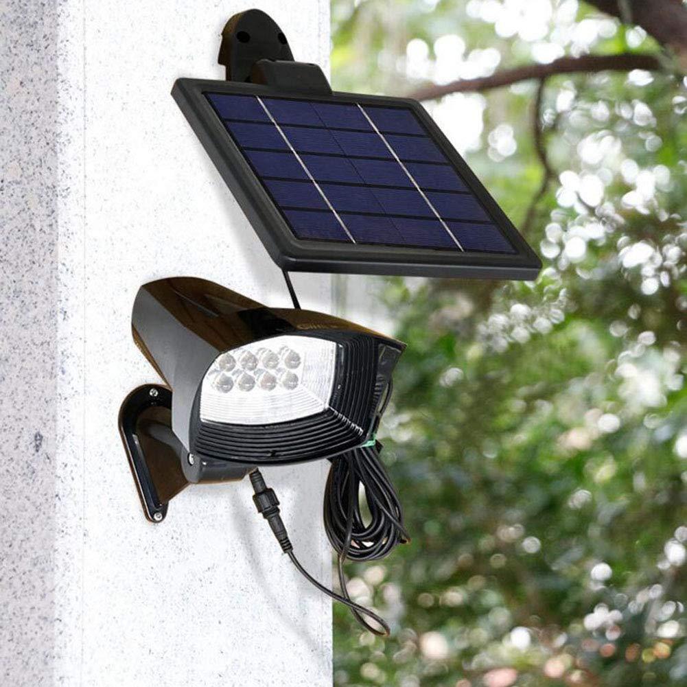 Suguoguo Outdoor Solar Wandleuchte, 8led Gartenstrahler, Garten Hohe Helligkeit Flutlichter Baumleuchten Rasenleuchten für Terrasse, Hof, Auffahrt, Treppen, Außenwandleuchte