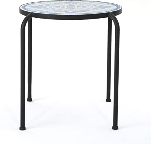 Christopher Knight Home Skye Outdoor Ceramic Tile Side Table