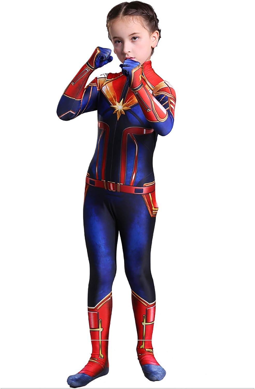 Banggym Captain Marvel Children S Deluxe Hero Suit Halloween Costume For Girls Superhero Jumpsuit Amazon Ca Clothing Accessories Captain marvel costume mr marvel cosplay halloween 4d printed jumpsuit outfits. deluxe hero suit halloween costume
