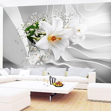Fototapeten Blumen 3D Lilien Weiß 352 X 250 Cm Vlies Wand Tapete Wohnzimmer  Schlafzimmer Büro Flur