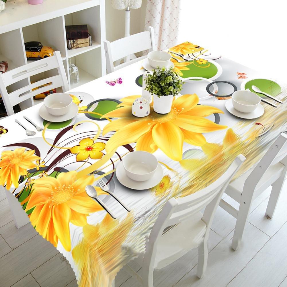 HUANZI H 3D Tischtuch Sonne Blaume Staub-Proof Umweltschutz, Rectangular Width 178cmx Long 274cm B07H34SNFJ TischdeckenFuxin | Vielfältiges neues Design
