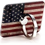 Phone Ring Mount Stand Holder for Smart Phone and Ipod The USA Flag Background