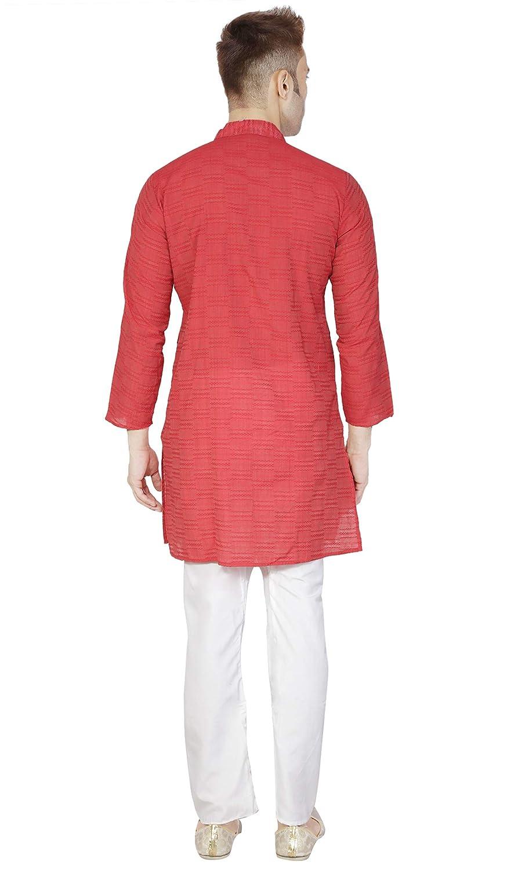 a274c0660744 Amazon.com  Indian Kurta Pajama for Men Cotton Long Sleeve Shirt Pyjama Set  Wedding Party Dress  Clothing