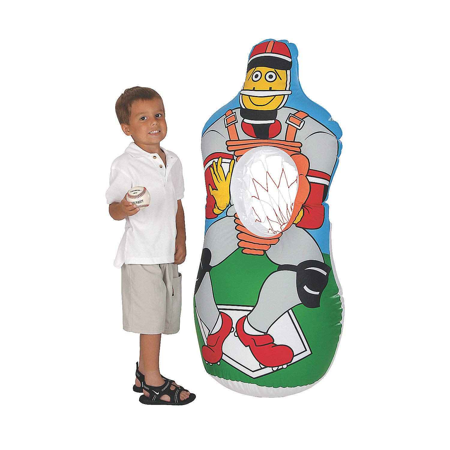 Inflatable Baseball Pitch Game by Fun Express