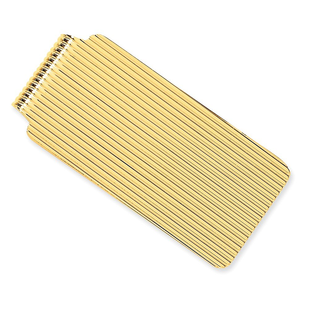 14k Solid Yellow Gold Money Clip