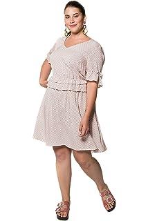 Studio Untold Damen große Größen bis 54, Kleid, Muster, Volants, Knielang   99ddc34ed1