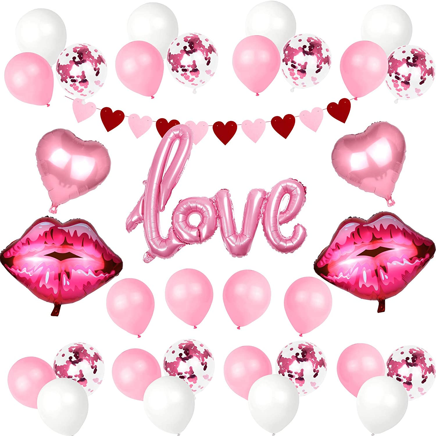 Heart Confetti Balloons Engaged Valentines Proposal Hen Party Decorations Love