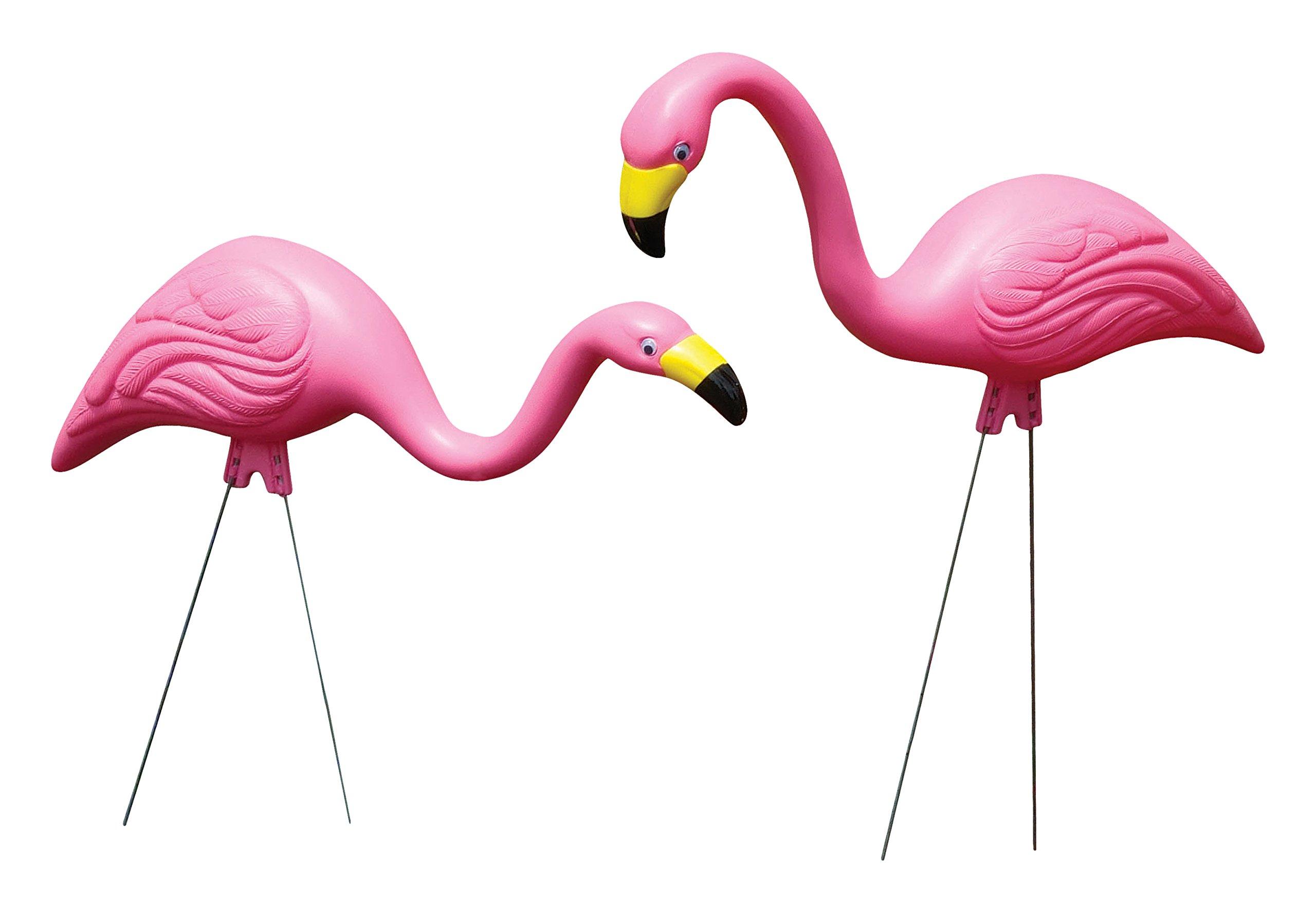 Bloem Pink Flamingo Garden Yard Statue 2-Pack (G2)