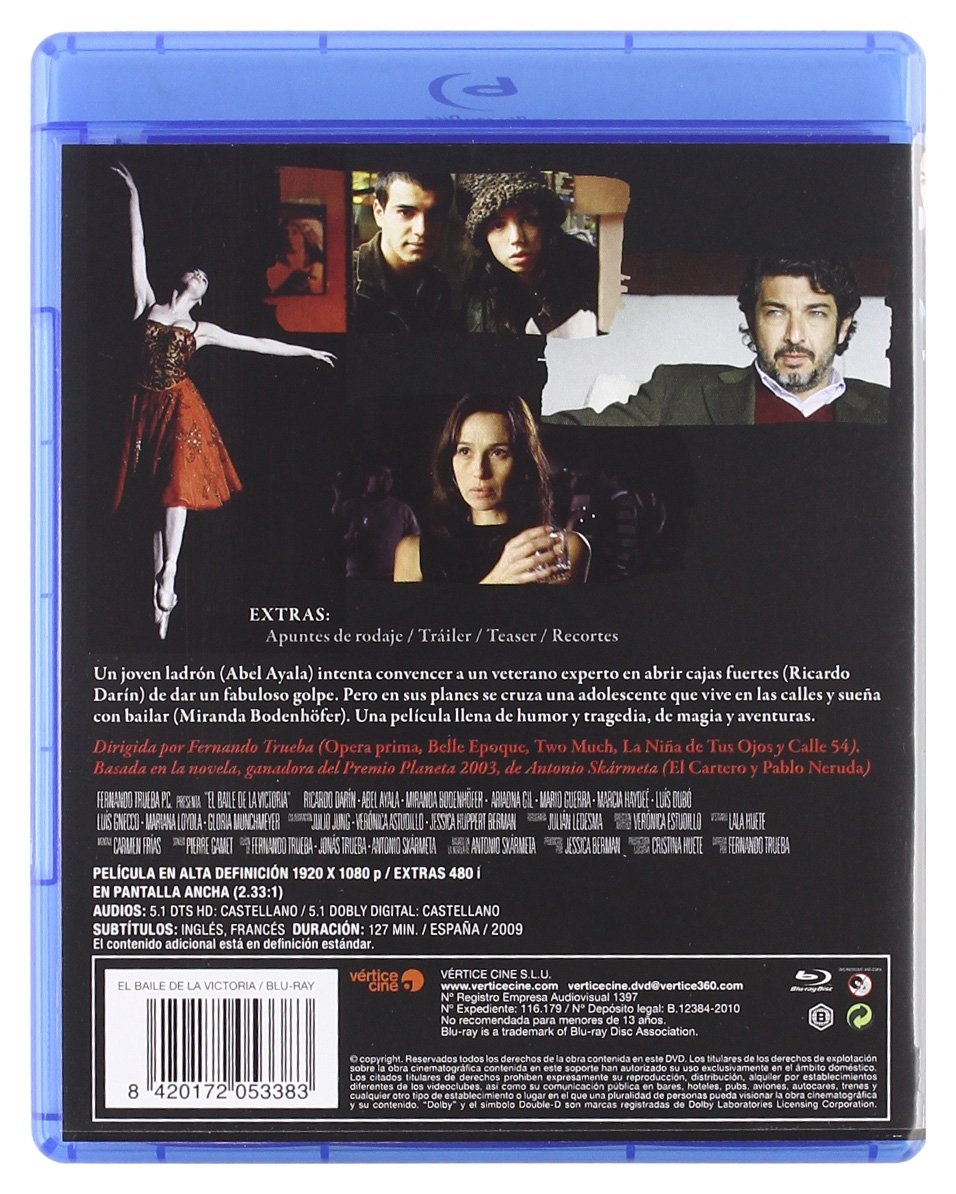 Amazon.com: The Dancer and the Thief (El baile de la Victoria)  [ NON-USA FORMAT, Blu-Ray, Reg.B Import - Spain ]: Ricardo Darin, Ariadna Gil, Abel Ayala, ...