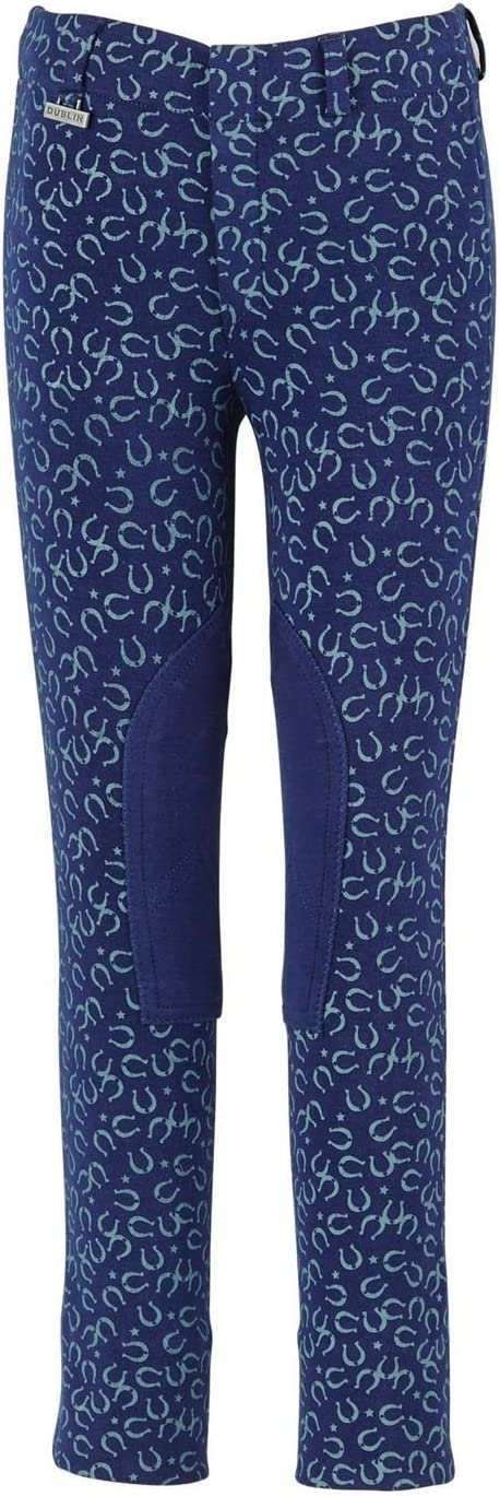 Dublin Jessy Childrens Pull On Jodhpurs Navy Blue 4