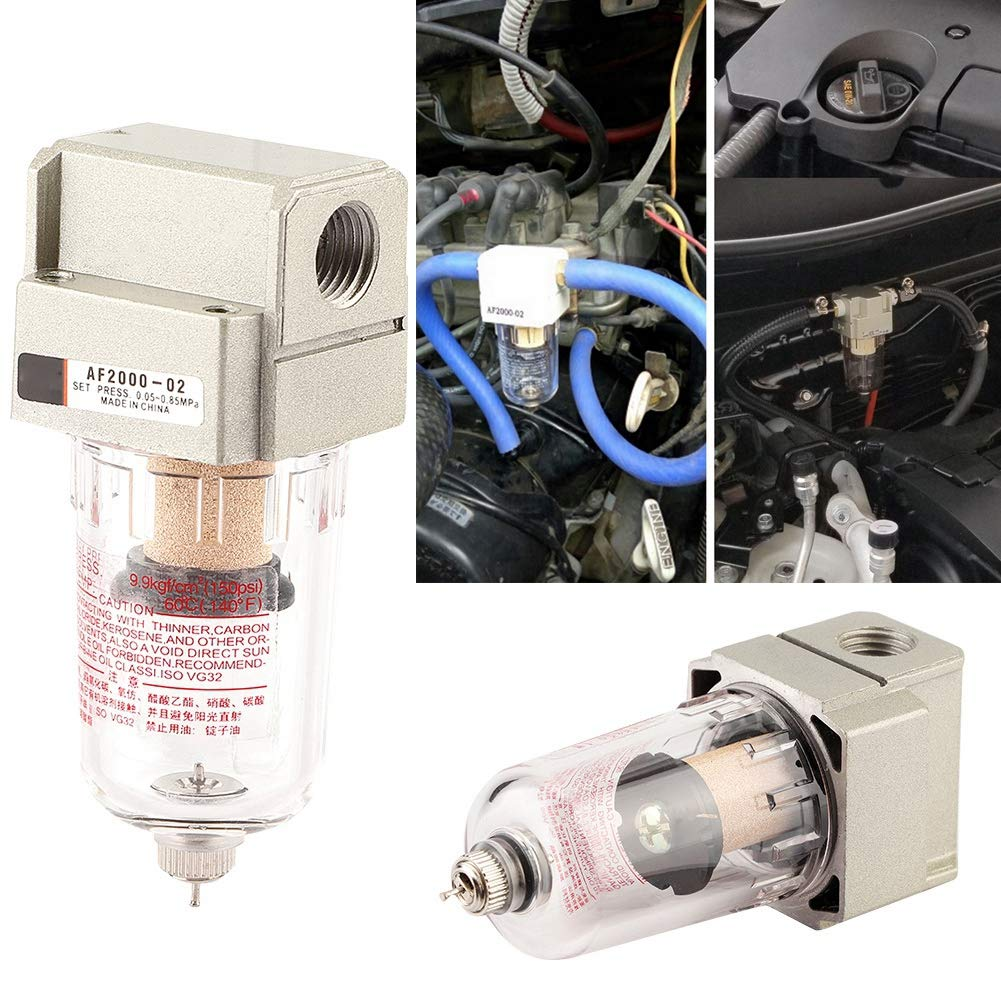 Aluminium + Eisen + Messing + Glas Duokon Auto Universal Motor/ölabscheider Auffangbeh/älter Kann /Ölfilter Prall