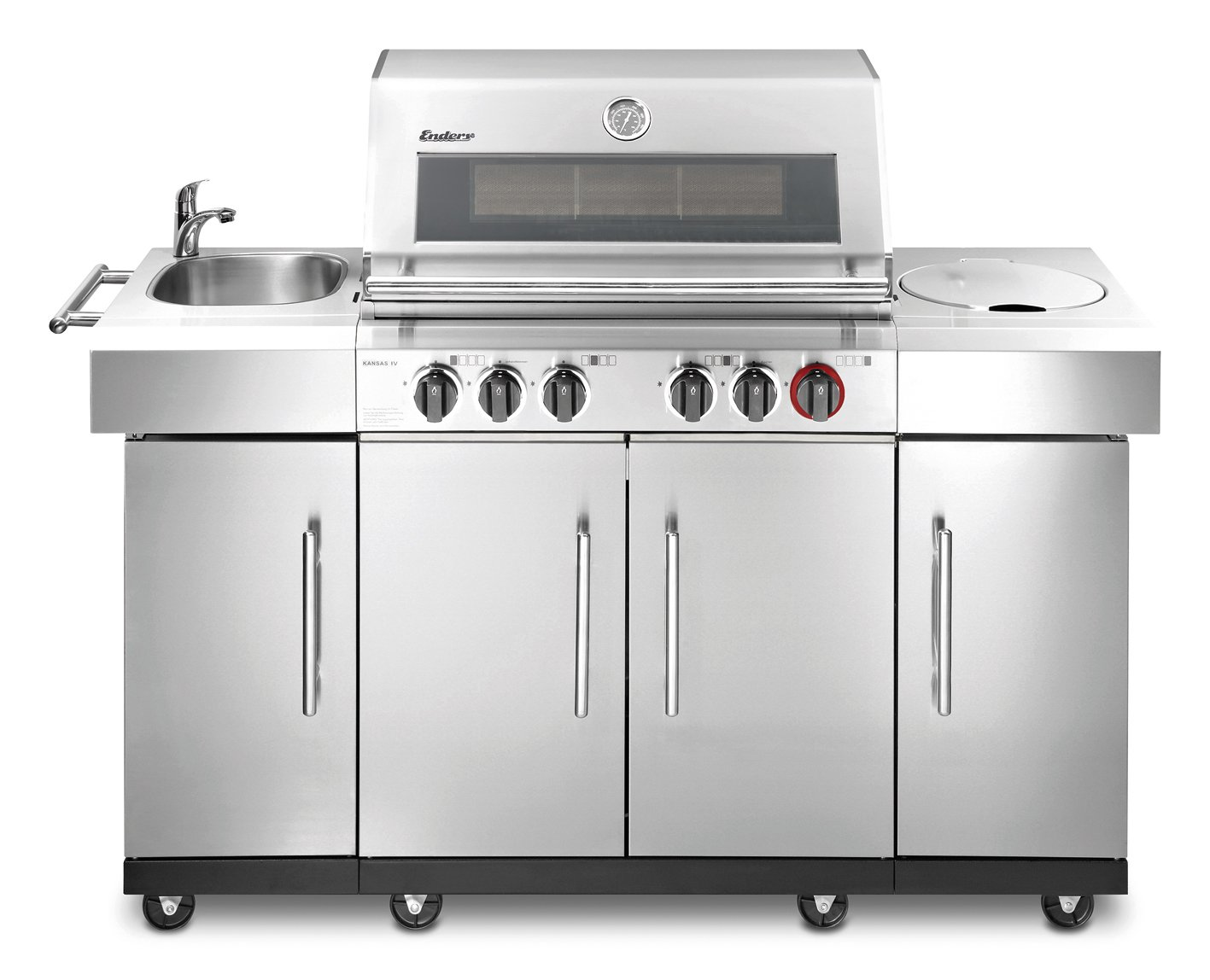 Enders BBQ Gasgrill KANSAS 4 SIK Profi Turbo, Gas Grill 8725*