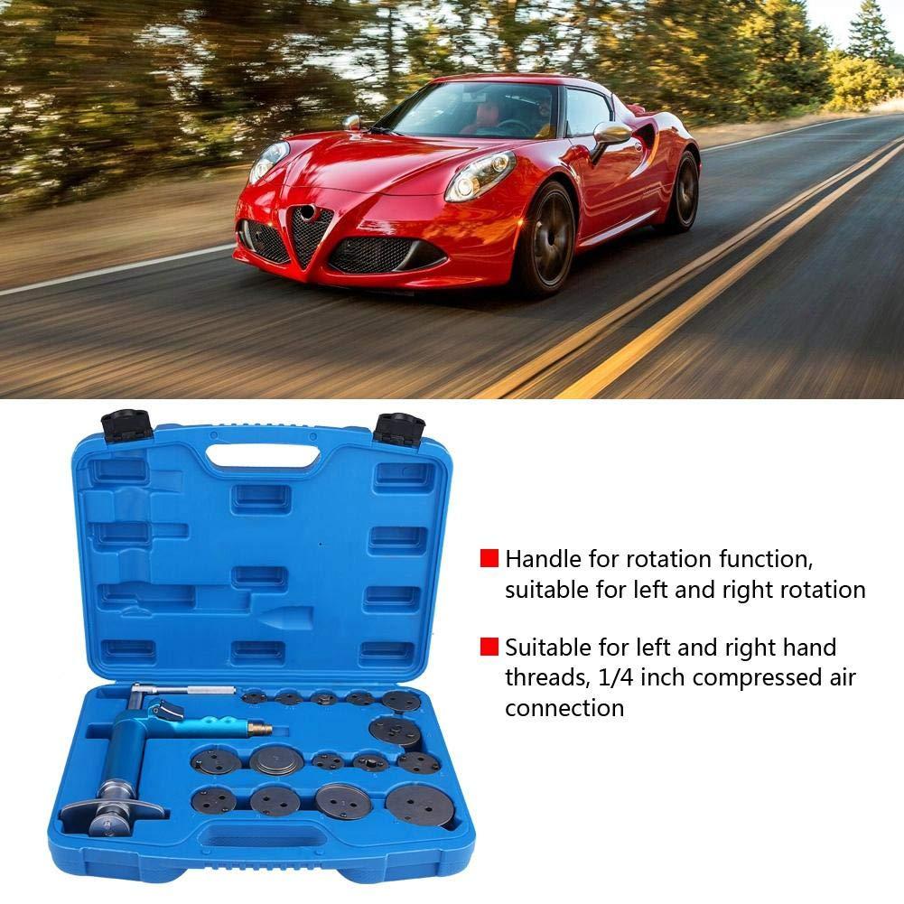 Air Brake Piston Reset Wind Back Repairing Tool, 16pcs Universal Master Disc Brake Caliper Compressor Tool Set with 15 Adapters by Estink (Image #2)