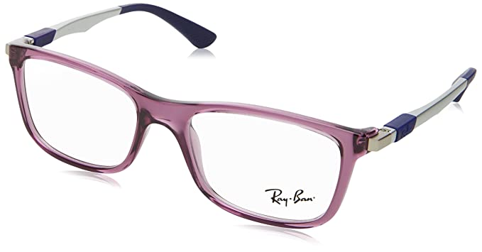 Amazon.com: Ray-Ban RY1549 Eyeglass Frames 3735-48 - Trasparent Blue ...