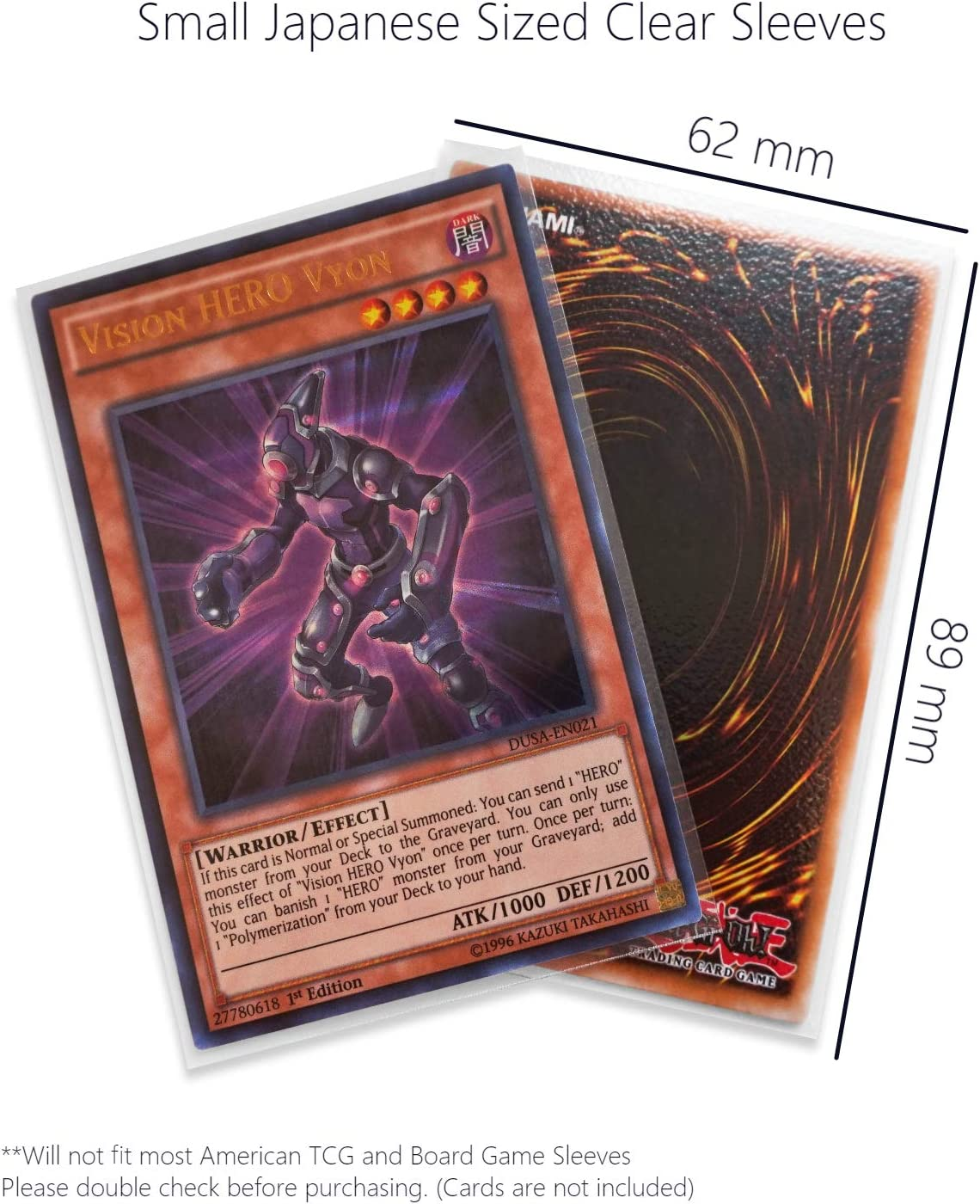 TitanShield 150 Sleeves//Purple Small Japanese Sized Trading Card Sleeves Deck Protector for Yu-Gi-Oh, Cardfight!! Vanguard /& More