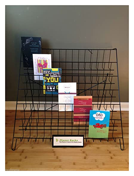 new planet racks folding 6 tier counter greeting card display rack - Greeting Card Display Rack