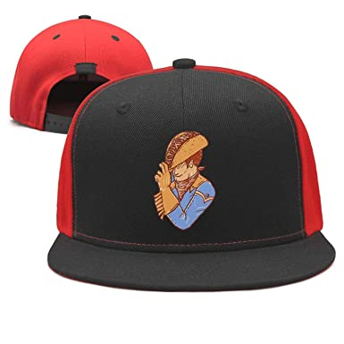Taco Cowboy Art Funny Snapback Hats Rock Punk Style Fitted Black Printing  Cap dff27560d8c
