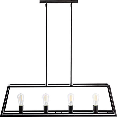 Lorenzi 4 Light Kitchen Island Pendant – Bronze w LED Bulbs – Linea di Liara LL-P12-6DB-LED