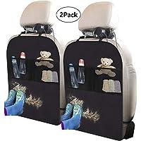 XBRN 2 Pack Car Backseat Kick Mat Auto Seat Back Protector for Kids - Waterproof Car Back Seat Protectors, Backseat…