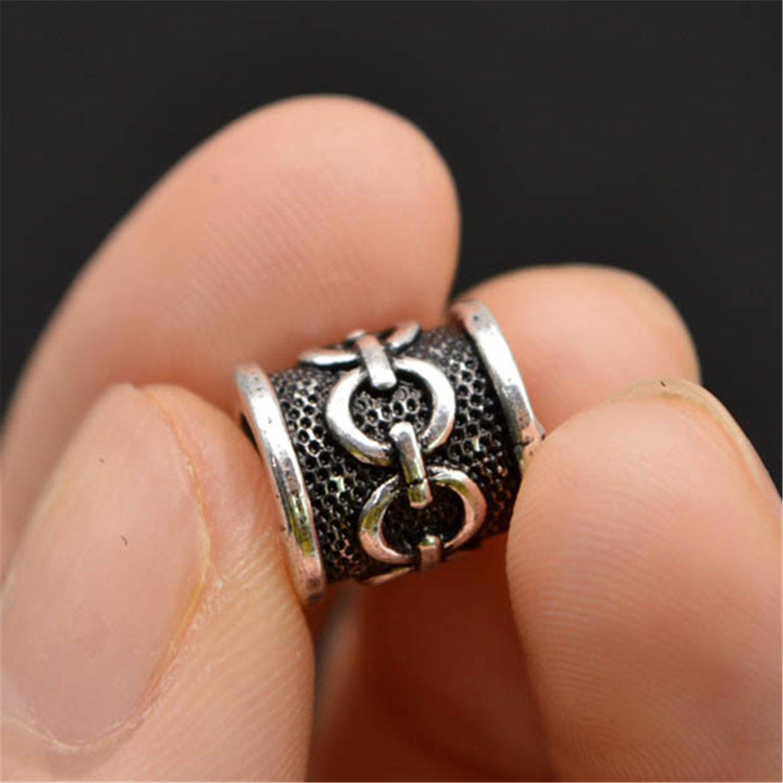 Hair Beards Making GraceAngel 5pcs Celtic Knot Norse Viking Knots Beads for Pendant Necklace Bracelet