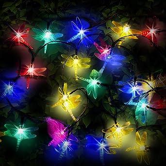 Kitschige Weihnachtsbeleuchtung.Spv Lichterkette 30 Mehrfarbige Leds Lichter Solarbetrieben