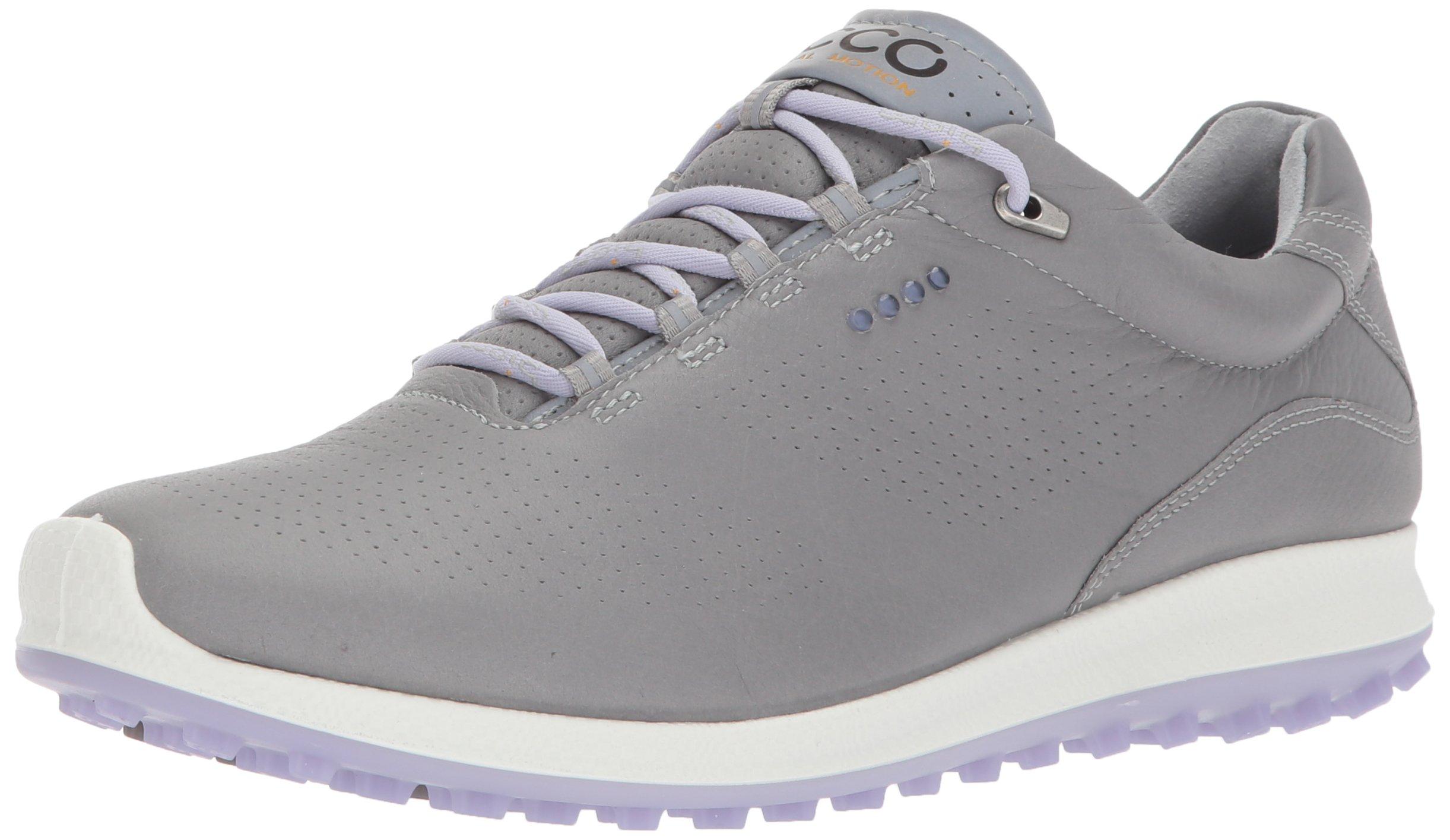 ECCO Women's Biom Hybrid 2 Perforated Golf Shoe, Wild Dove/Crocus, 37 EU/6-6.5 B(M) US