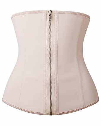 3d14c7a751 YIANNA Women Zip Hook Latex Waist Training Corsets Cincher Sport Girdle  Underbust Hourglass Body Shaper