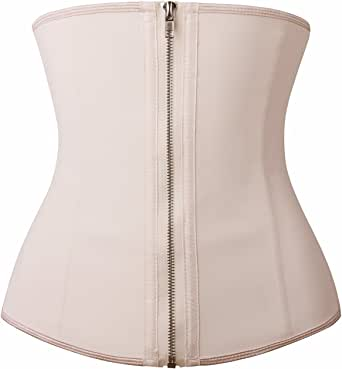 YIANNA Women's Zipper&Hook Hourglass Latex Waist Training Corset Body Shaper