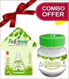 Zindagi Combo Pack Stevia Liquid (Fosstevia) Natural Stevia Powder - Sugar-Free Stevia Sweetener