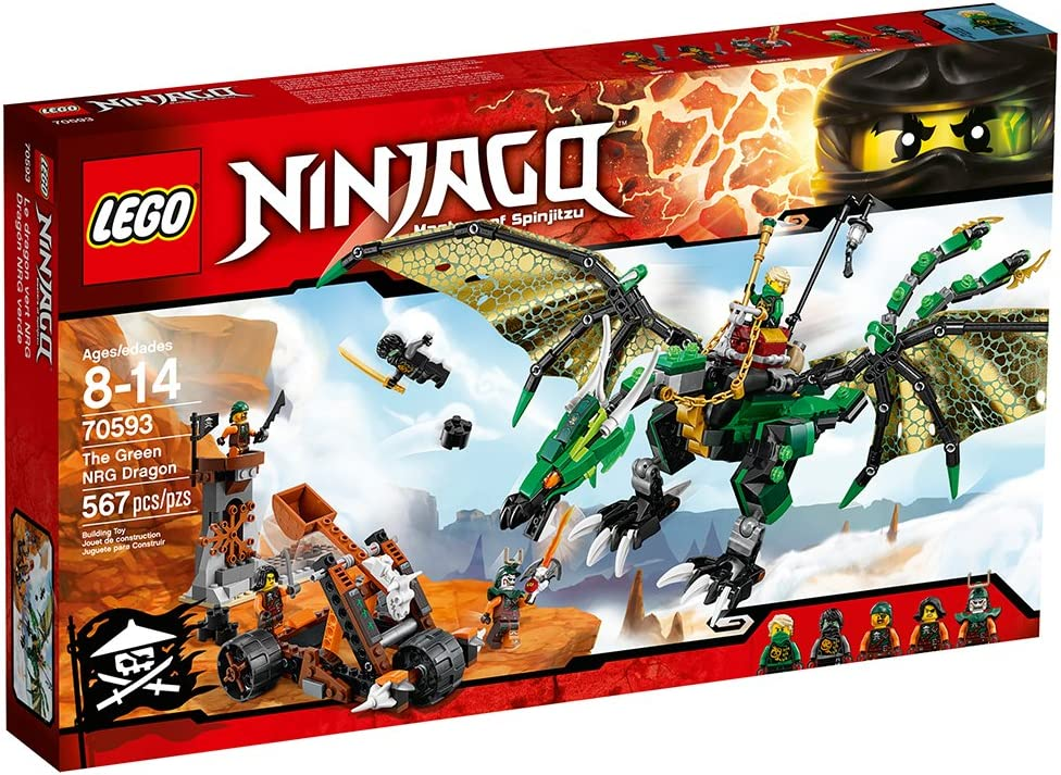 Lego Ninjago 70593 The Green NRG Dragon Building Kit, (567-Pieces)
