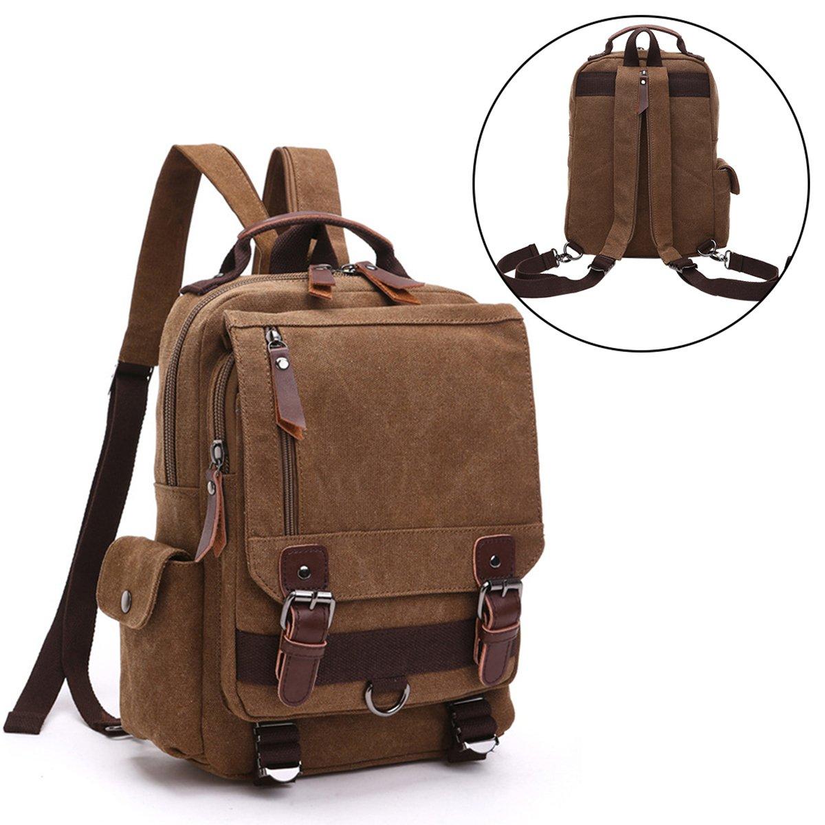 VentoMarea Cross Body Messenger Bag Sling Canvas Chest Bag Shoulder Backpack Travel Rucksack for Men, Women
