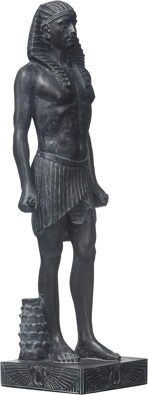 Design Toscano Roman Antinous as Egyptian God Osiris Statue, 9 Inch, Black