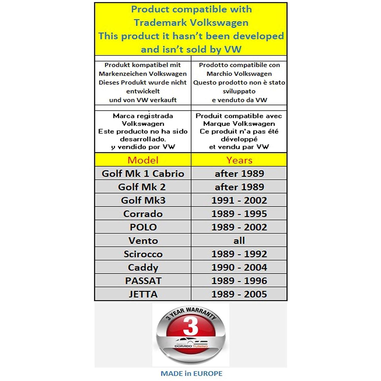 Dorado Tuning Sport Volant /& Adaptateur de Moyeu//Volant /Ø 320 mm//Modul/ée Pour une Meilleure Maniabilit/é T/ÜV M10HL+640