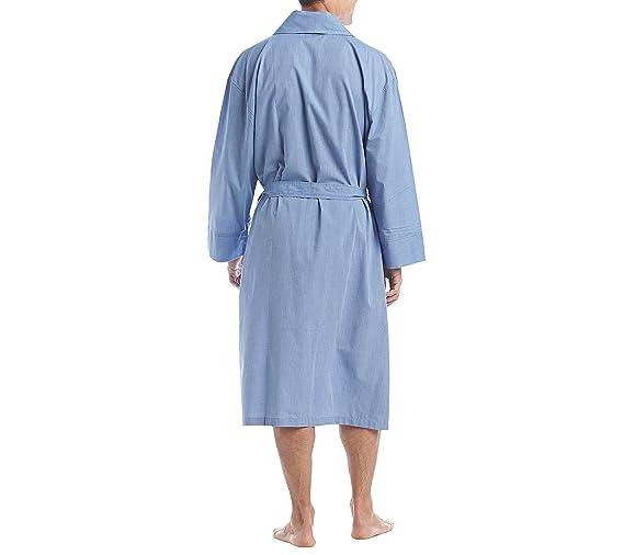 Amazon.com  Hanes Men s Woven Shawl Collar Robe  Clothing 14422d7de