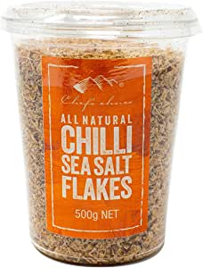 Chef's Choice All Natural Chilli Sea Salt Flakes 500 g
