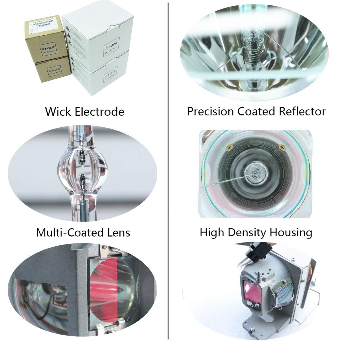 Araca 5J.J3T05.001 //5J.J8J05.001 Projector Lamp for Benq MW665 TH681 MW663 TH681 with Housing(Economical)