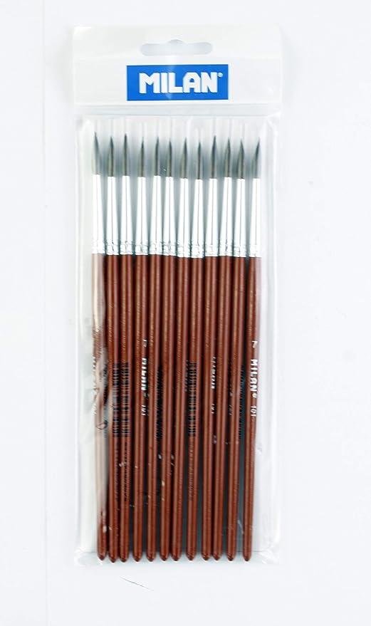 Pack 12 pinceles escolar serie 101 nº 7 Milan: Amazon.es: Hogar