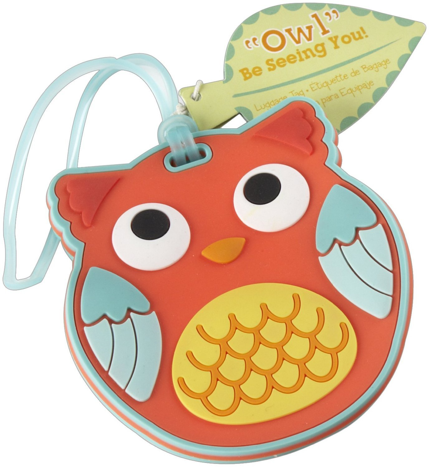 Kate Aspen Be Seeing You Luggage Tag, Owl (30)