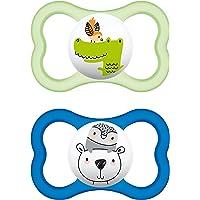 """MAM 226311 - Ciuccio""""Air"""" in silicone per bambini dai 16 mesi in su, confezione doppia, colori assortiti"""